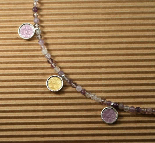 Amethyst and spot necklace